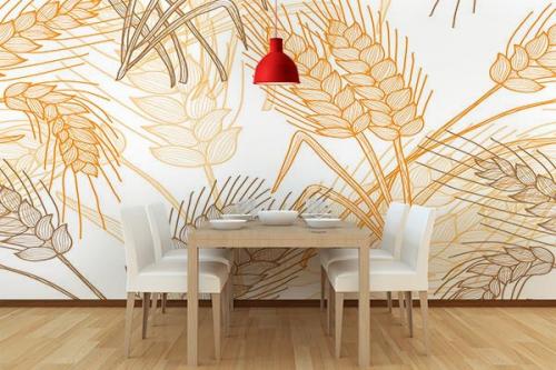 papier peint panoramique sur-mesure cuisine epi de blé