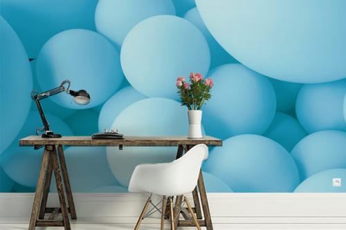 Papier peint tendance Bulles bleues