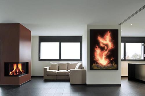 cadre-décoration-loup-de-feu