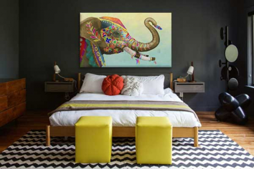 tableau-elephant-festival-de-couleurs-déco-chambre