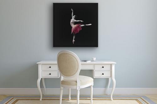 Tableau danseuse tulipe