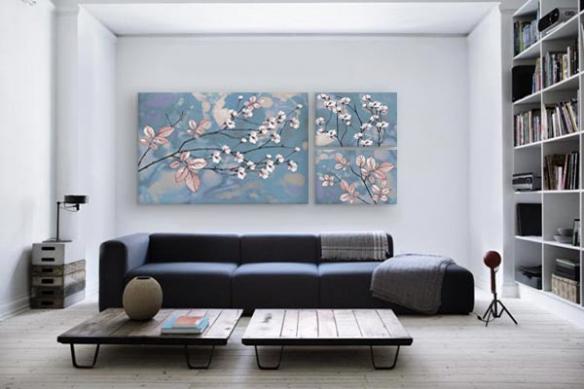 tableau-triptyque-fleurs-élégance