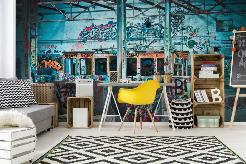 decoration-chambre-ado-papier-peint-graffiti-hangar