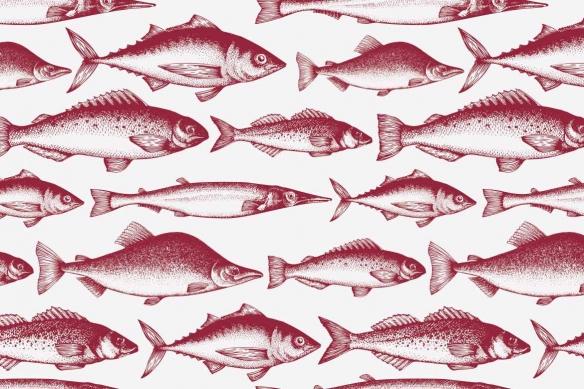 papier-peint-cuisine-moderne-poissons