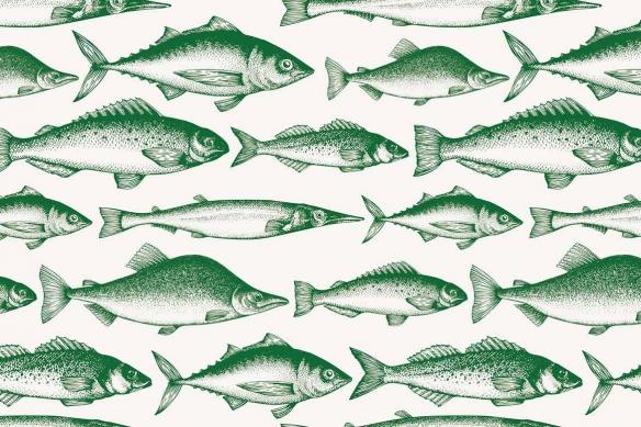 tapisserie-cuisine-poissons-de-la-mer