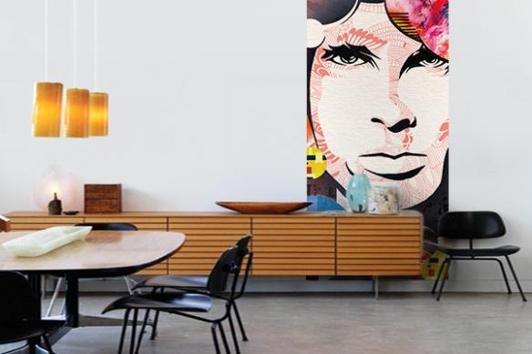 Panneau mural Jim Morrison