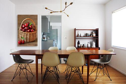 Tableau salle à manger Panier de cerises