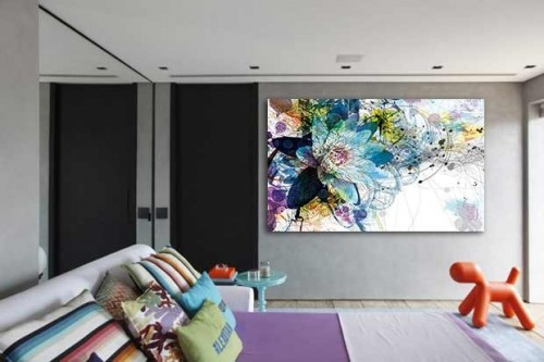 Tableaux xxl tableaux contemporains izoa - Deco murale salon design ...