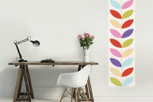 Frise papier peint scandinave Poppy Flowy