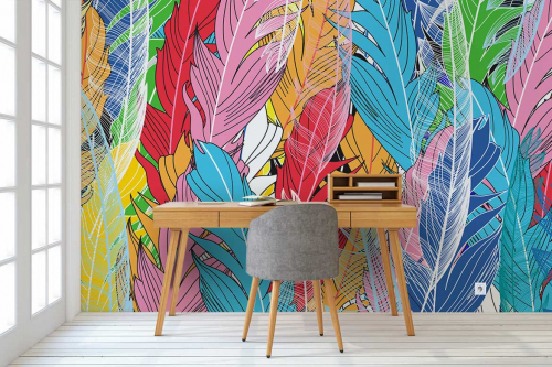 tapisserie-murale-plumes-d-oies
