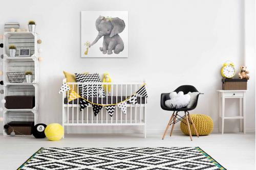 décoration chambre enfant éléphanteau et caneton