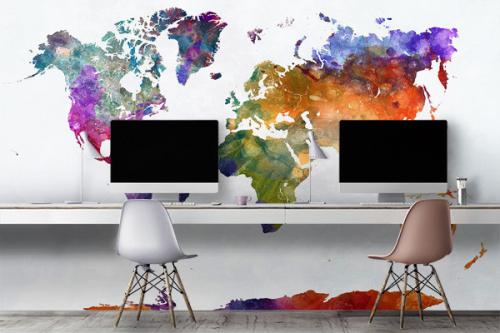 decoration-murale-carte-du-monde-encre