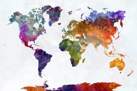 papier-peint-carte-du-monde-panoramique-encre