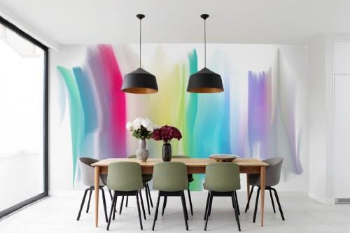 papier peint salle à manger tendance narsico
