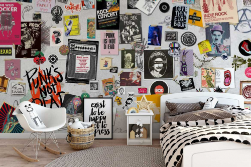 papier-peint-chambre-ado-London-vintage-rock-punk