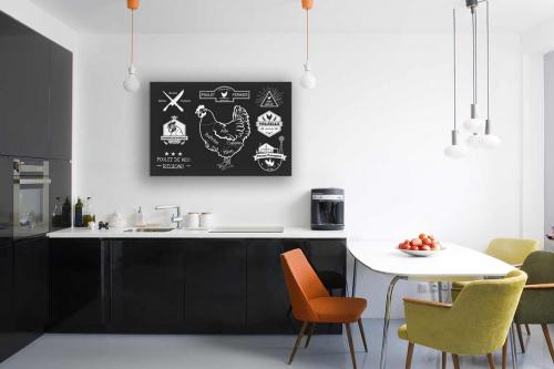 tableau-pour-cuisine-poulet-rétro