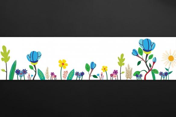 crédence déco fleurette