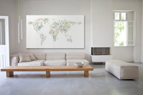 tableau carte du monde gommettes