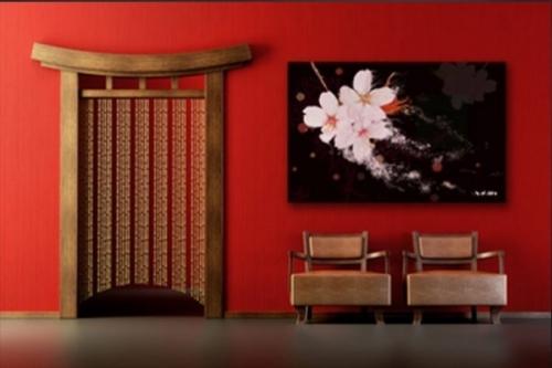 Tableau grand format Cerisiers Japonnais