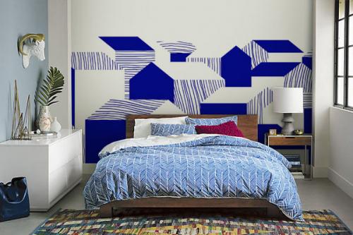 tapisserie-panoramique-chambre-maisonnettes-bleues