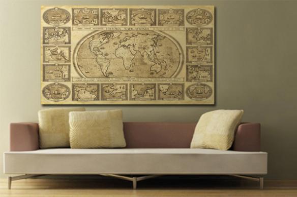 Tableau carte du monde Historia