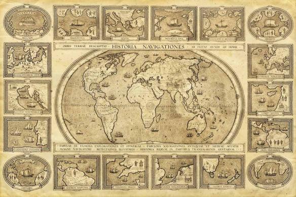 planisphère déco vintage historia