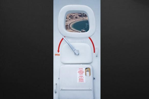 sticker de porte avion plage lagon