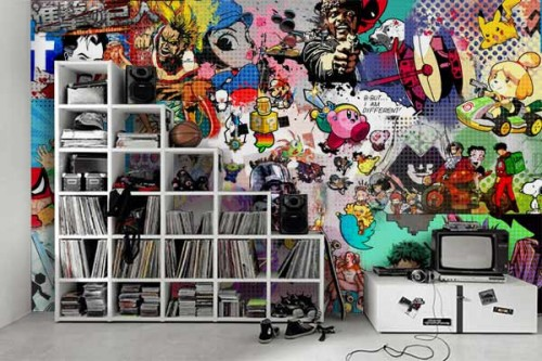Papier peint chambre ado Pop culture gaming