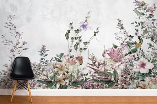 Papier peint fleuri Foliole