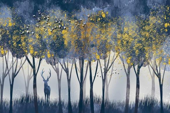 tapisserie-panoramique-nature-foret-chene-des-marais