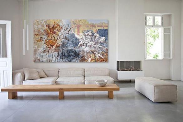 Tableau toile fleur Romanesque