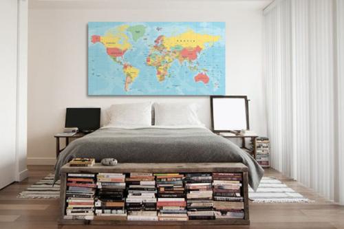 Tableau carte du monde Planisphère