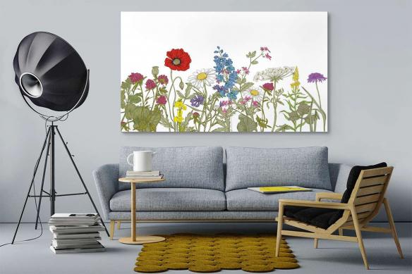 Tableau de fleurs Champ printanier