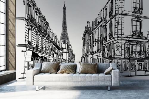 Papier peint panoramique Faubourg de Paris