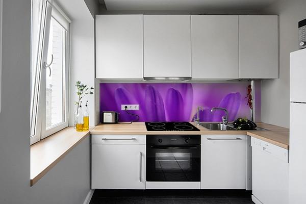 Crédence cuisine Pétale violette