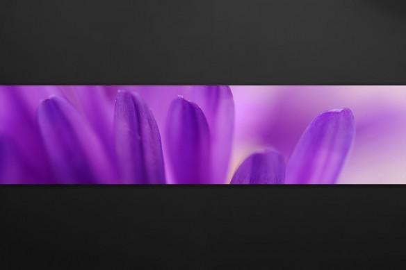 crédence autocollante pétales violettes
