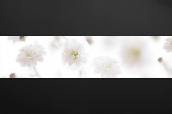 crédence sur mesure floral pureté