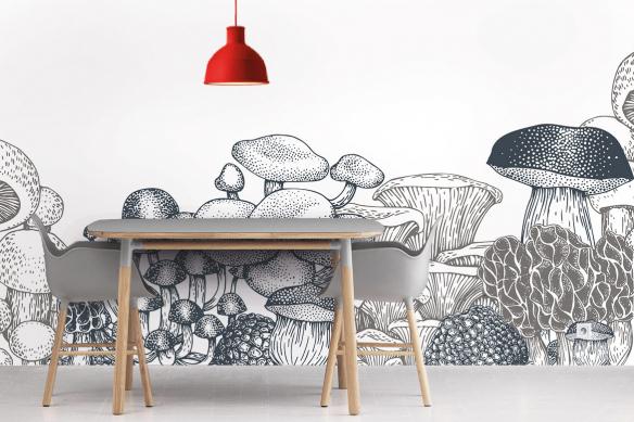Papier peint cuisine Champignons