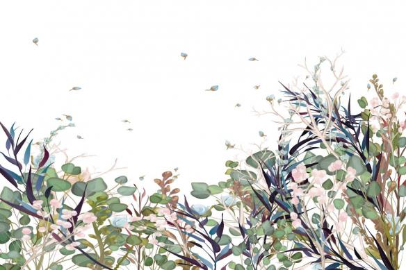 papier-peint-floral-dispersion