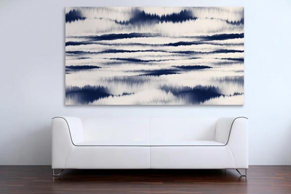 Tableau forêt de montagnes abstraites