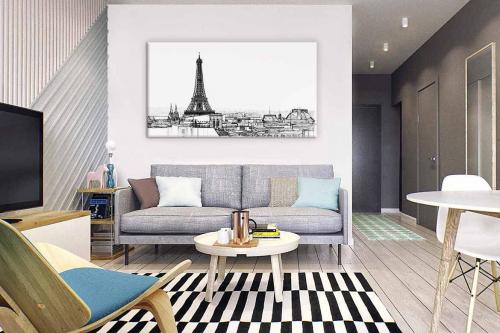 Tableau Paris noir et blanc Un tour de Paris