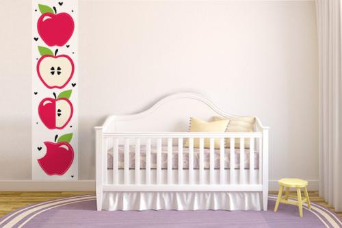Lé de papier peint chambre enfant Pommes
