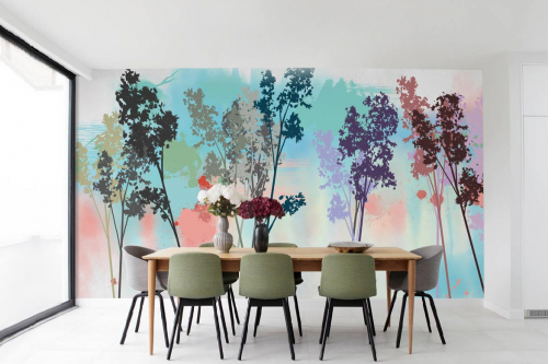 tapisserie-foret-salle-à-manger-colorama