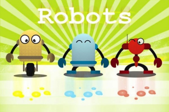 poster enfant machine robots