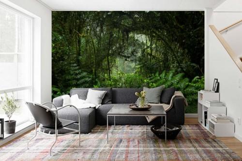 Tapisserie Jungle Végétation dense
