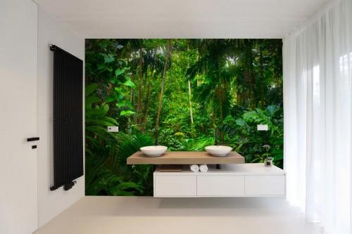 tapisserie-jungle-vegetation pour salle de bain