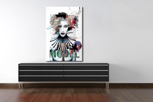 Tableau street art Femme gothique