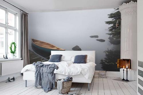 papier-peint-foret-canoe