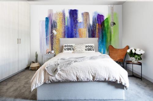 papier peint intissé composition abstraite
