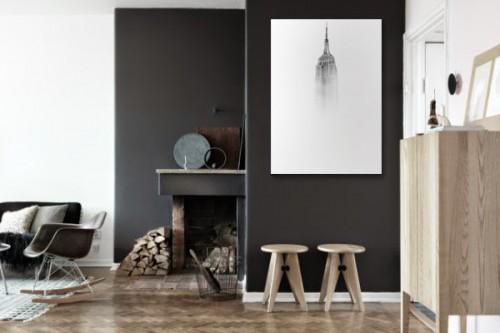 Tableau noir et blanc Empire State